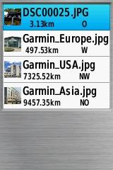 geladen in een gpsmap 62