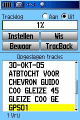 track overzicht