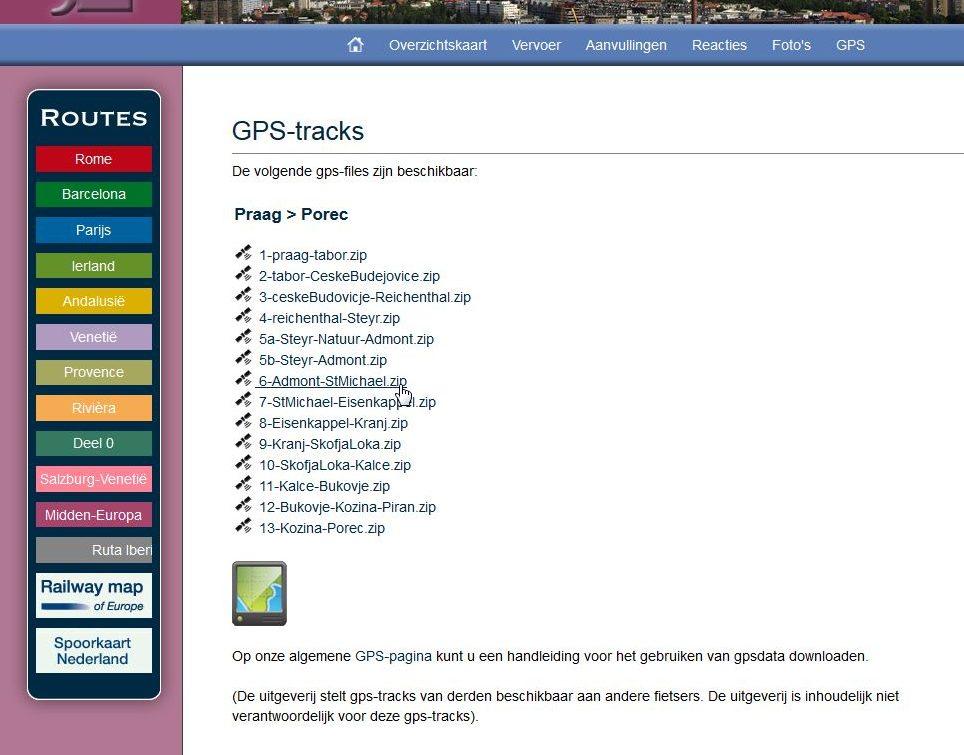 Track laden in een Edge Touring (plus) | GPS-info nl