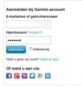 log in garmin connect