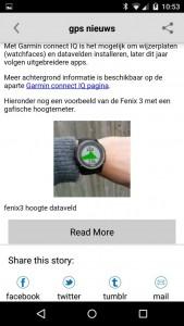 GPS-info nieuws app