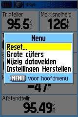 tripcomputer menu