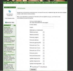 firmware email  lijst