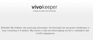 vivokeeper besteld